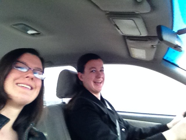 On the way there... Driving selfies