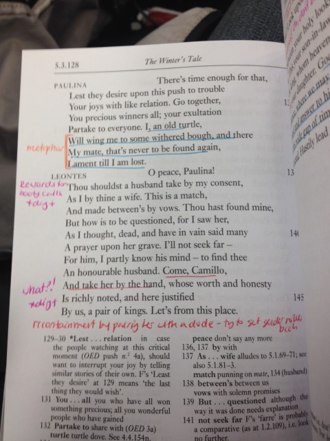 Another jump forward and suddenly everything's okay.  Leontes thinks Camillo looks lonely and randomly hands him Paulina